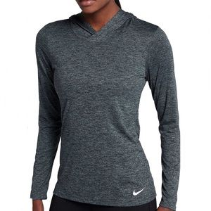 Nike Legends Hooded Long Sleeve Pullover Top Blue